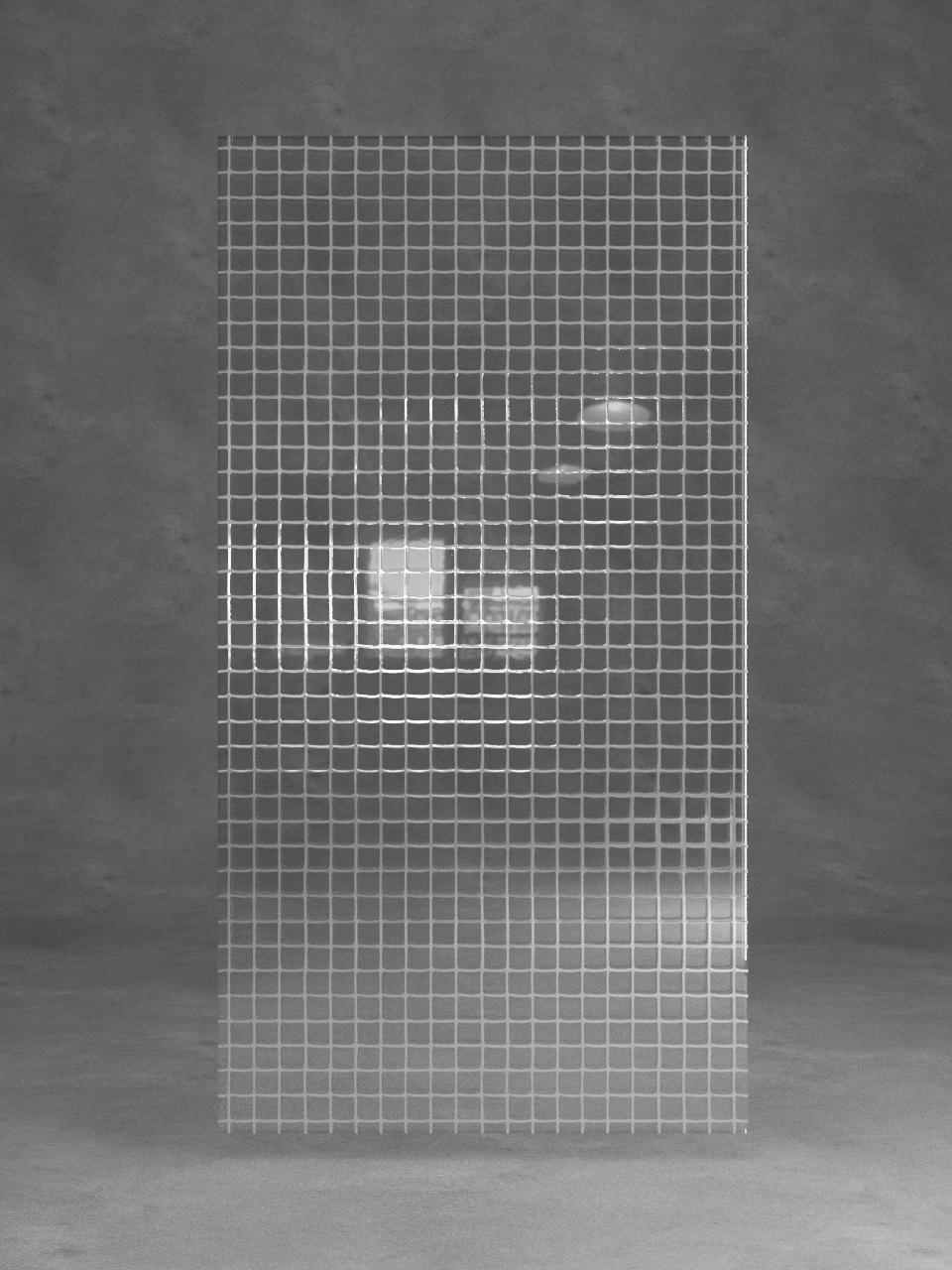 витраж  лофт хром на прозрачном